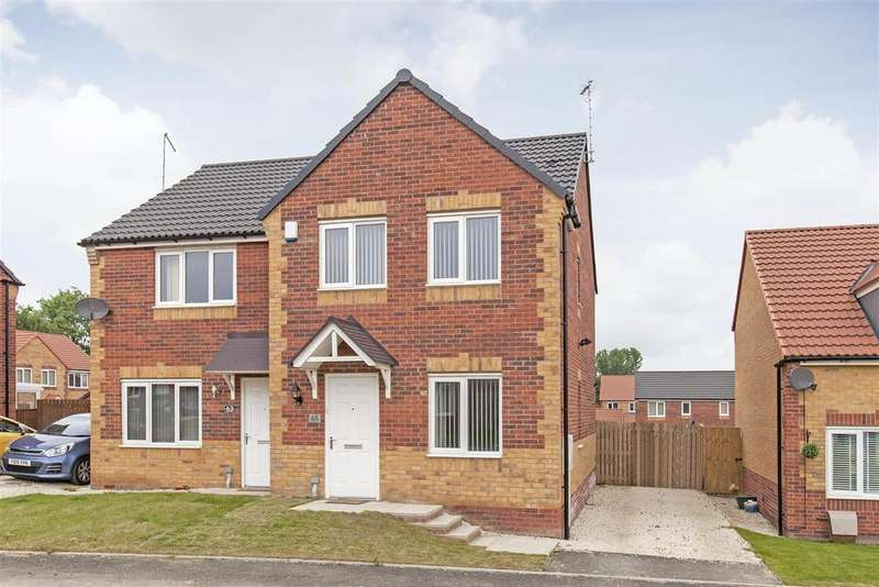 3 Bedrooms Semi Detached House for sale in Masefield Avenue, Holmewood, Chesterfield