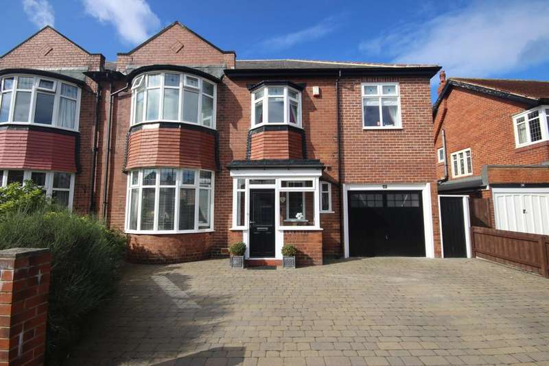 4 Bedrooms Semi Detached House for sale in Shaftesbury Avenue, Whitley Bay, NE26
