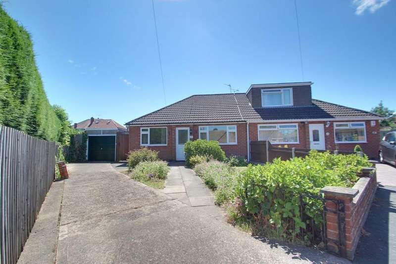2 Bedrooms Semi Detached Bungalow for sale in Hazel Close, Birstall