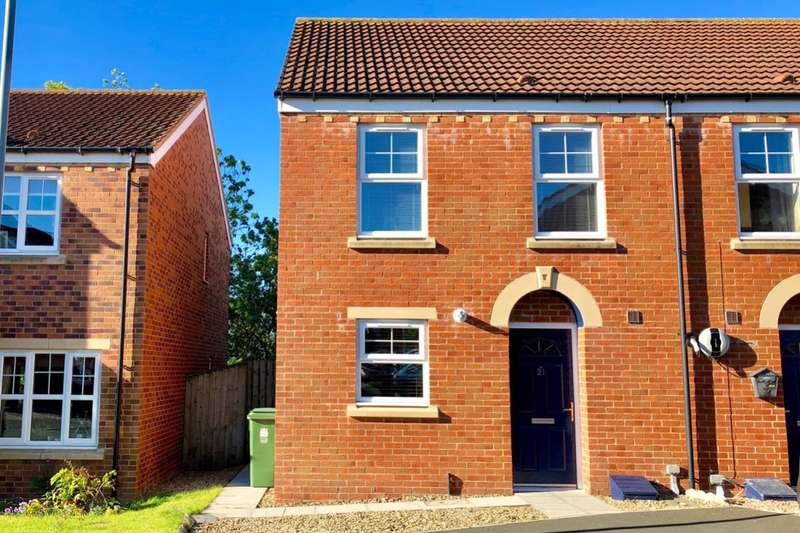 3 Bedrooms Semi Detached House for sale in Murphy Close, Crook, DL15