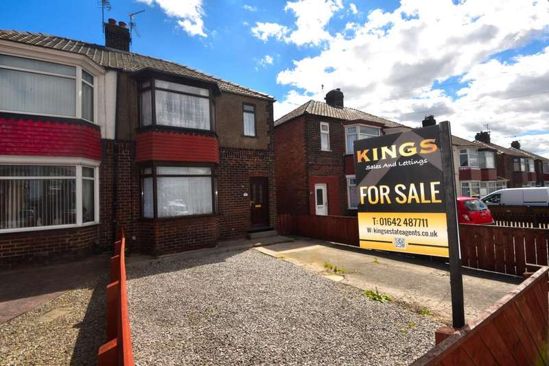 3 Bedrooms Semi Detached House for sale in Broadway East, Redcar TS10