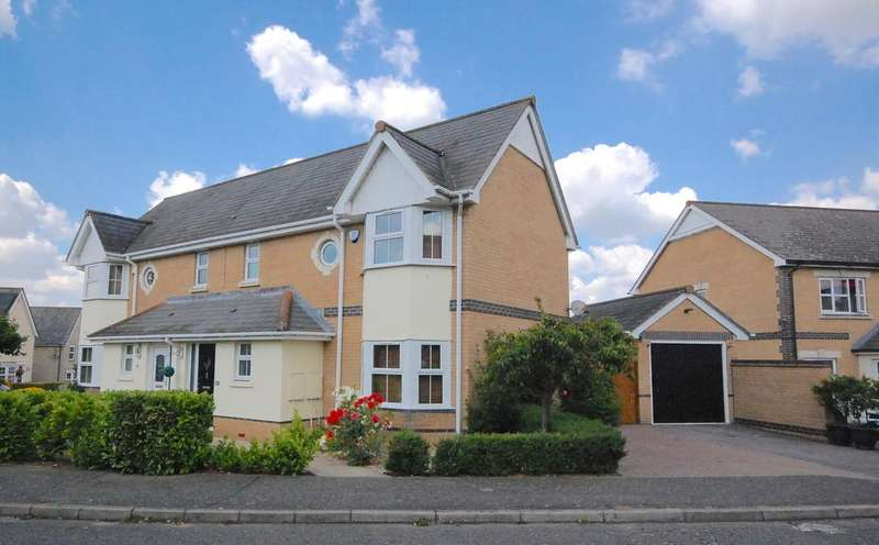3 Bedrooms Semi Detached House for sale in Tortoiseshell Way, Braintree, CM7