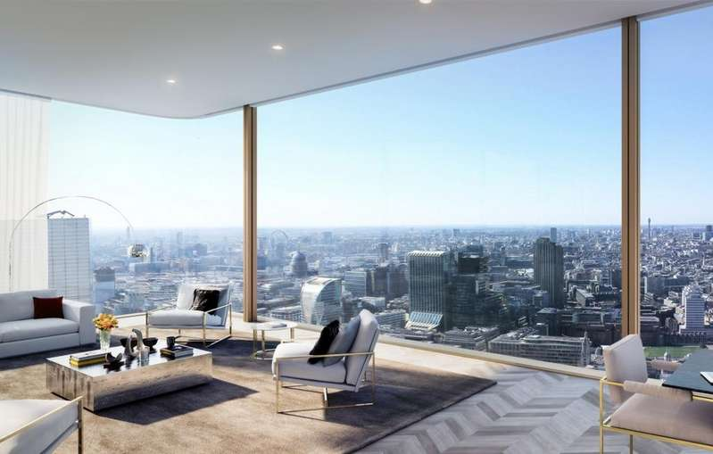 3 Bedrooms Penthouse Flat for sale in Upper House, Principal Tower, London, EC2A