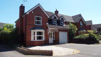4 Bedrooms Detached House for sale in Ripley Gardens, Worcester, Worcestershire