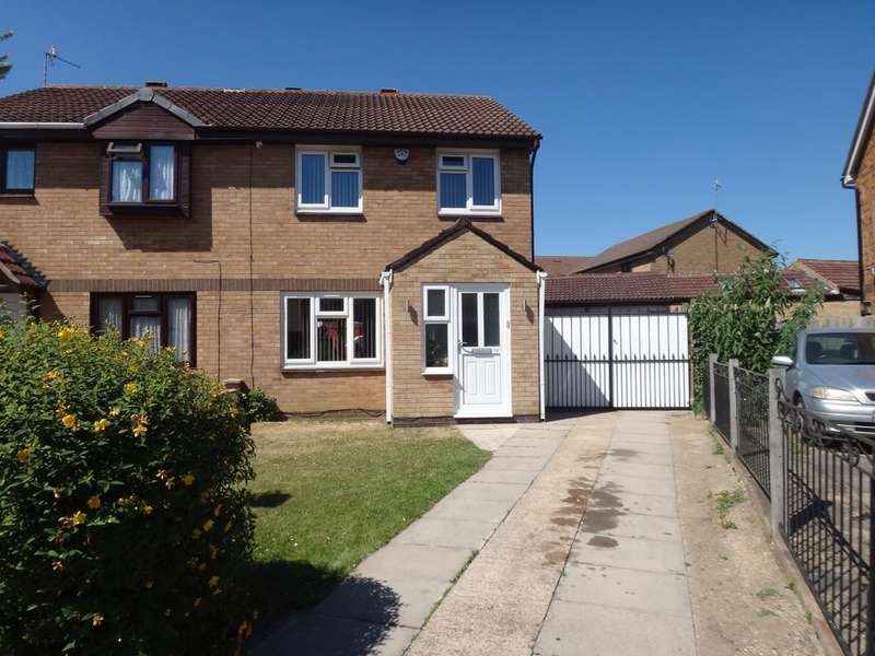 3 Bedrooms Semi Detached House for sale in Brewer Close, Off Trevino Drive, Rushey Mead