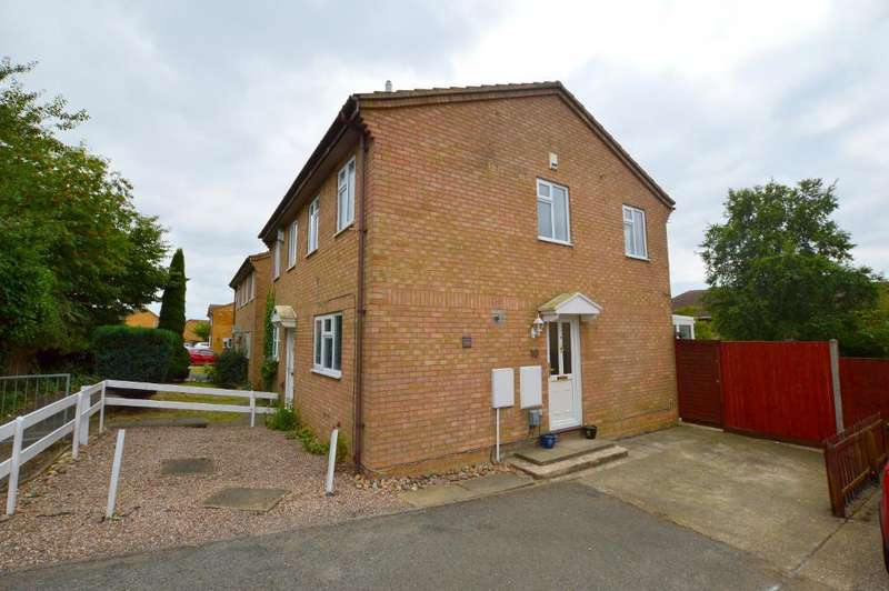 2 Bedrooms Semi Detached House for sale in Falstone Green, Wigmore, Luton, Beds, LU2 9TT