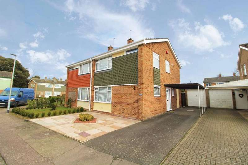 3 Bedrooms Semi Detached House for sale in Greenview Close, Kempston, Bedfordshire, MK42