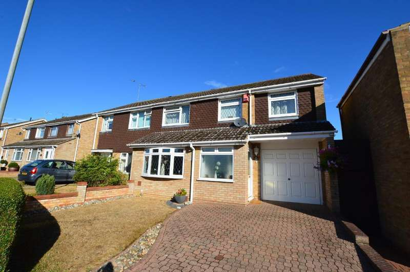 4 Bedrooms Semi Detached House for sale in Telscombe Way, Stopsley, Luton, LU2 8QP