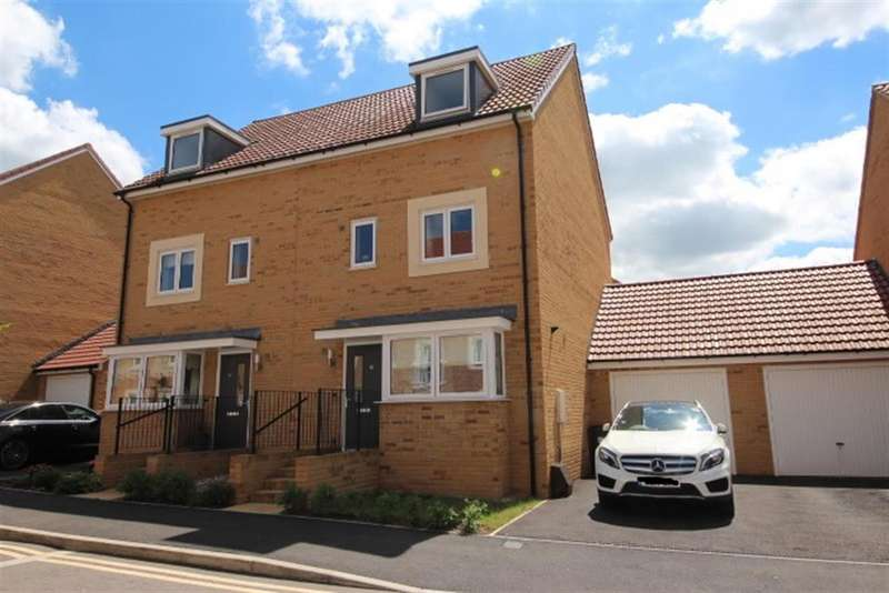 4 Bedrooms Semi Detached House for sale in Newlands Lane, Emersons Green, Bristol, BS16 7GE