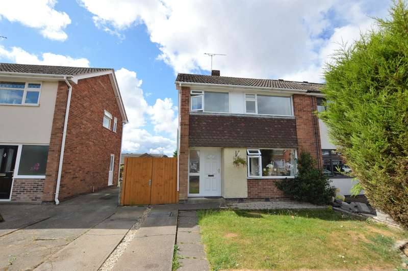 3 Bedrooms Semi Detached House for sale in Herbert Close, Whetstone, Leicester, LE8 6NS