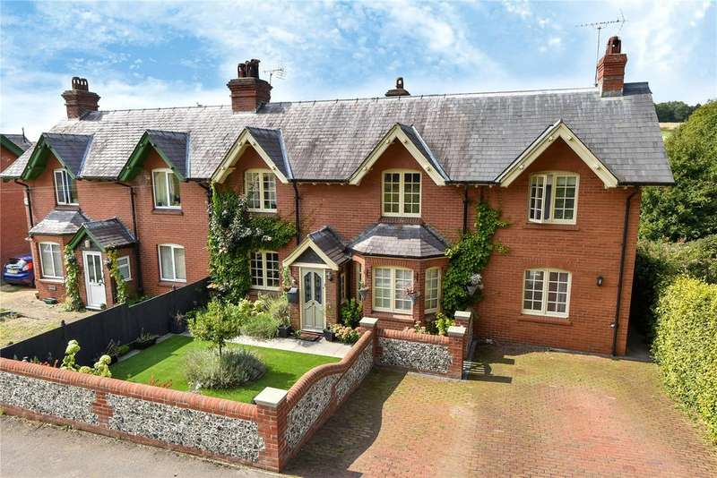 4 Bedrooms Semi Detached House for sale in Floud Cottages, West Meon, Petersfield, Hampshire, GU32