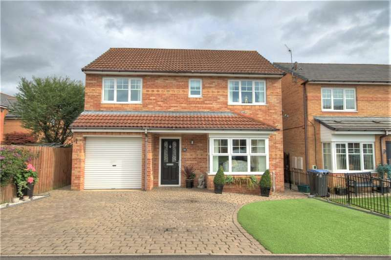 4 Bedrooms Detached House for sale in Cloverhill Court, Craghead, Stanley, DH9