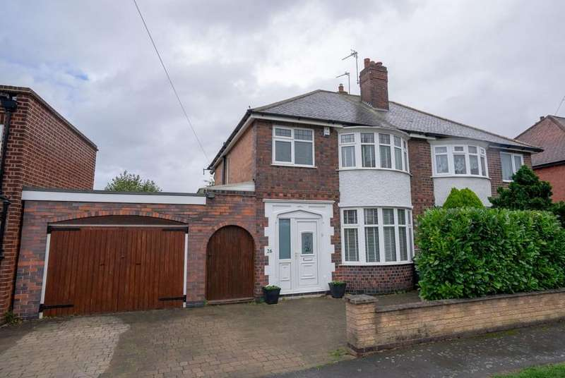 3 Bedrooms Semi Detached House for sale in Poplar Avenue, Birstall, Leicester