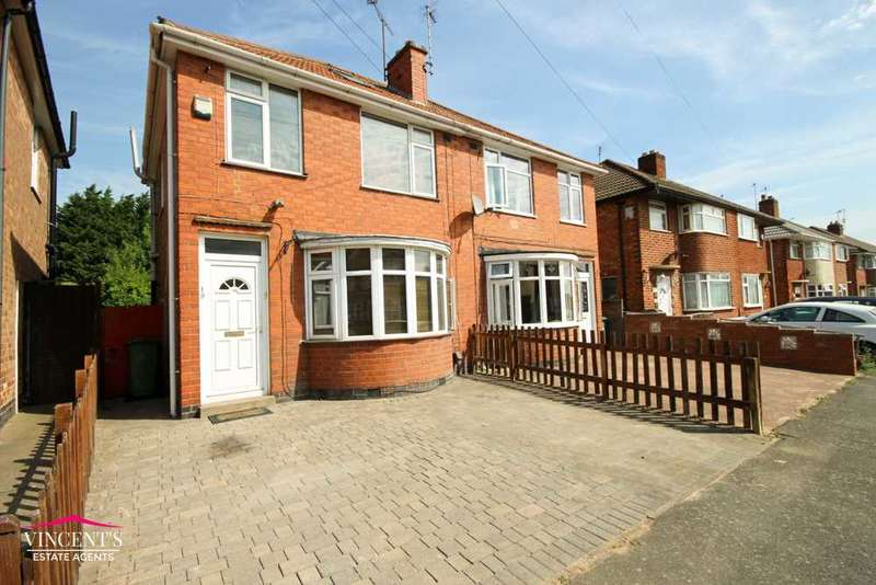 3 Bedrooms Semi Detached House for sale in Shottery Avenue, Leicester