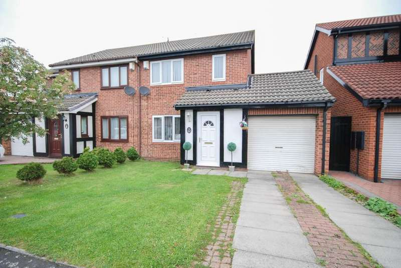 3 Bedrooms Semi Detached House for sale in Romsey Drive, Boldon Colliery