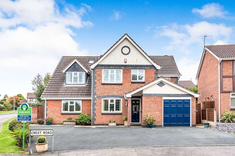 6 Bedrooms Detached House for sale in Crest Road, St. Georges, Telford, TF2