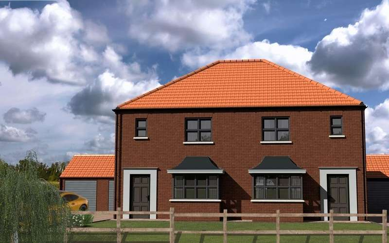 3 Bedrooms Semi Detached House for sale in The Hornbeam, Plot 8, Westfield Park, Louth