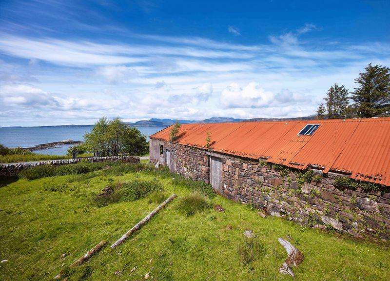 Land Commercial for sale in THE OLD STEADING: Conversion project, Stunning location, Ord, south Skye
