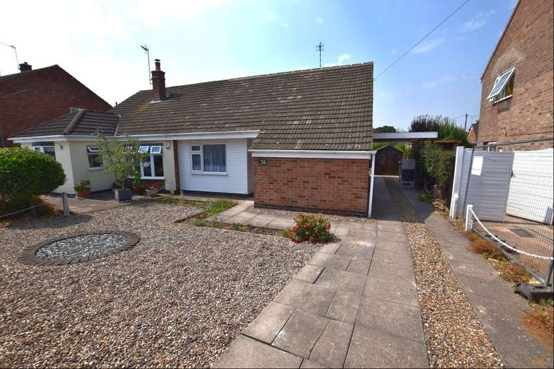 2 Bedrooms Semi Detached Bungalow for sale in Allington Drive, Birstall, Leicester, LE4
