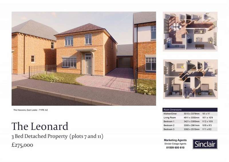 3 Bedrooms Detached House for sale in The Heavens - Hardy Way, East Leake, Leicestershire