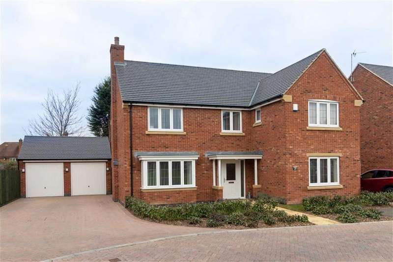 4 Bedrooms Detached House for sale in Wicket Close, Loughborough, LE11