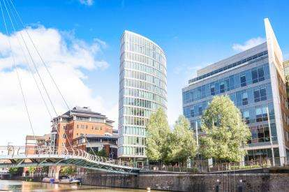2 Bedrooms Flat for sale in The Eye, Glass Wharf, Bristol