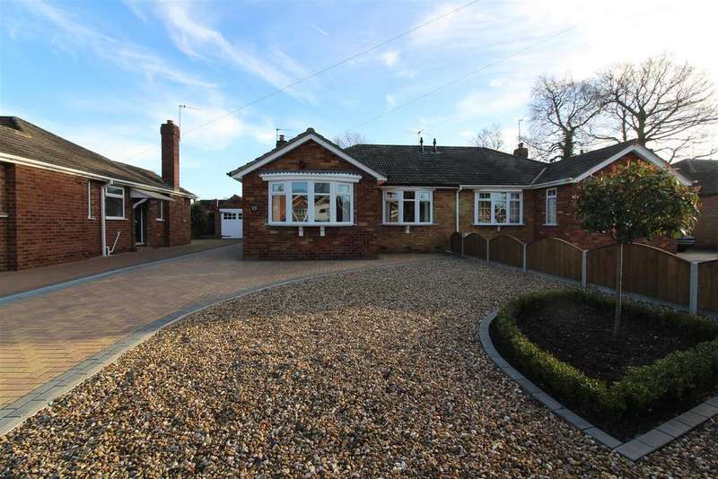 2 Bedrooms Semi Detached Bungalow for sale in The Spinney, Cottingham