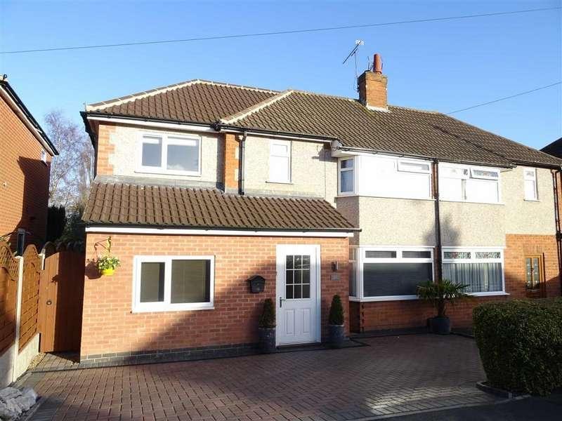 3 Bedrooms Semi Detached House for sale in Sandringham Avenue, Earl Shilton