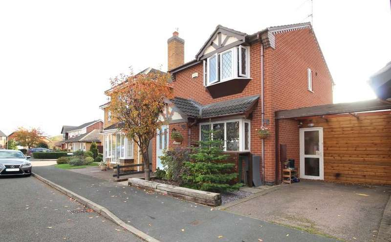 3 Bedrooms Detached House for sale in Lindisfarne Drive, Loughborough