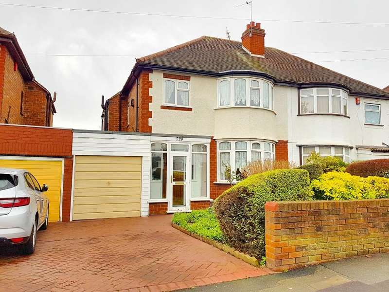 3 Bedrooms Semi Detached House for sale in WALSALL ROAD, WEST BROMWICH, WEST MIDLANDS, B71 3HS