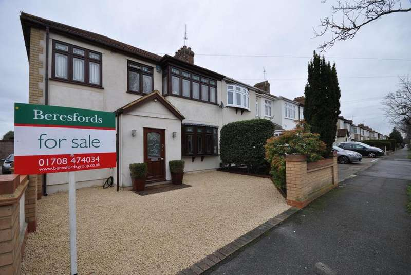 4 Bedrooms End Of Terrace House for sale in Chestnut Avenue, Hornchurch, Essex, RM12
