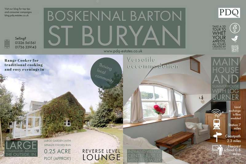4 Bedrooms Barn Conversion Character Property for sale in Boskennal Barton, St. Buryan, Penzance