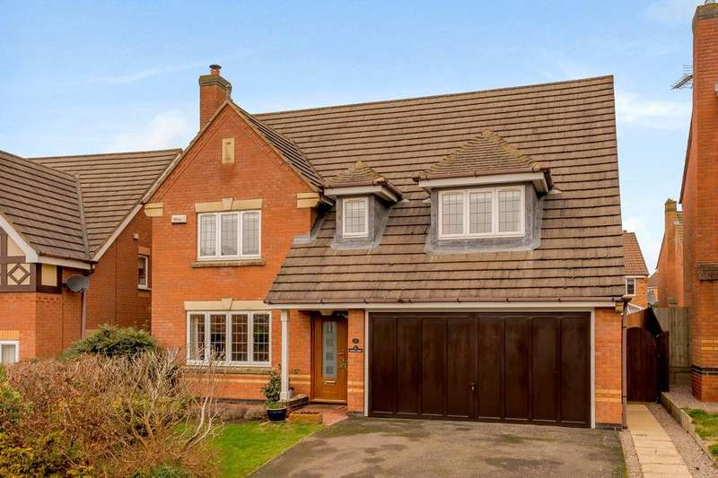 4 Bedrooms Detached House for sale in Audley Close, Market Harborough, Leicestershire