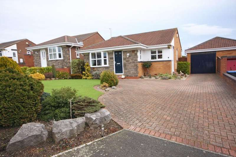 2 Bedrooms Detached Bungalow for sale in Flodden Close, Fellside Meadows, Chester-le-Street DH2 3TD