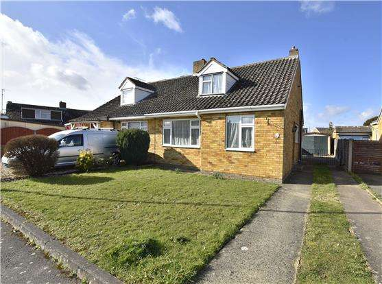 2 Bedrooms Semi Detached Bungalow for sale in Oakfield Road, Bishops Cleeve, GL52 8LA