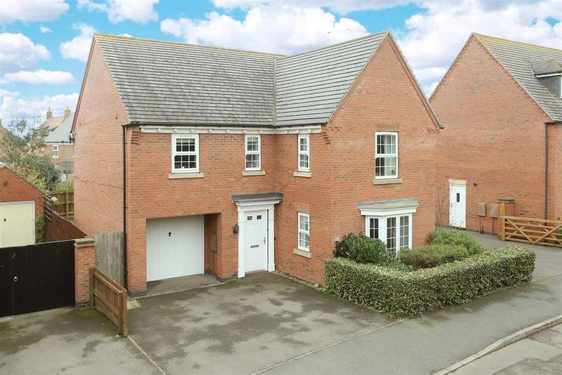4 Bedrooms Detached House for sale in Rochester Close, Kibworth Harcourt, Leicestershire
