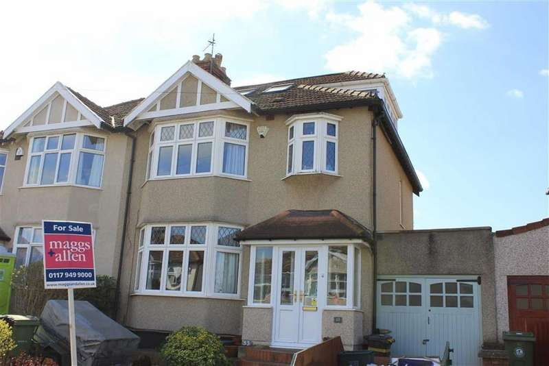 4 Bedrooms Semi Detached House for sale in Laurie Crescent, Henleaze, Bristol