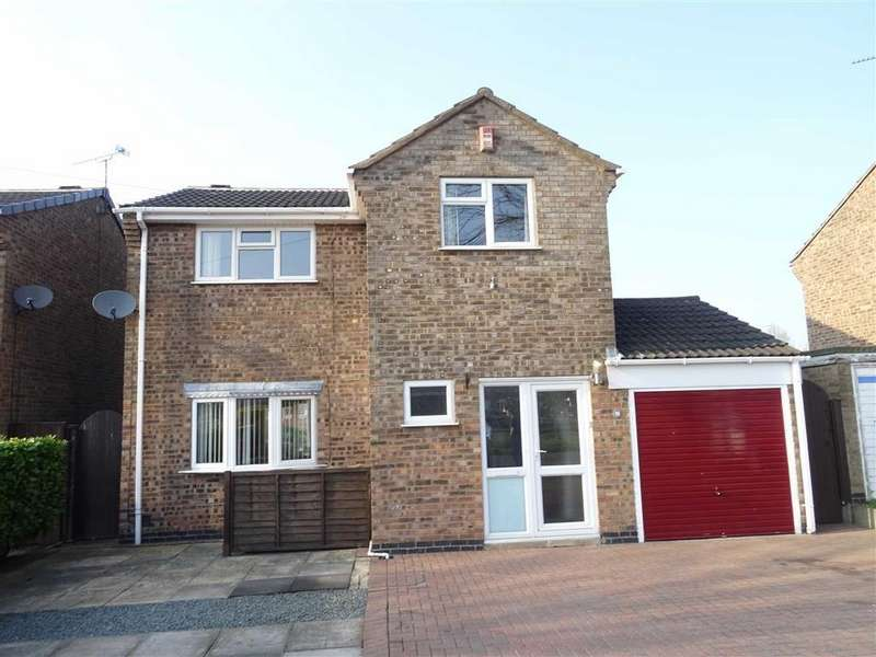 3 Bedrooms Detached House for sale in Roston Drive, Hinckley