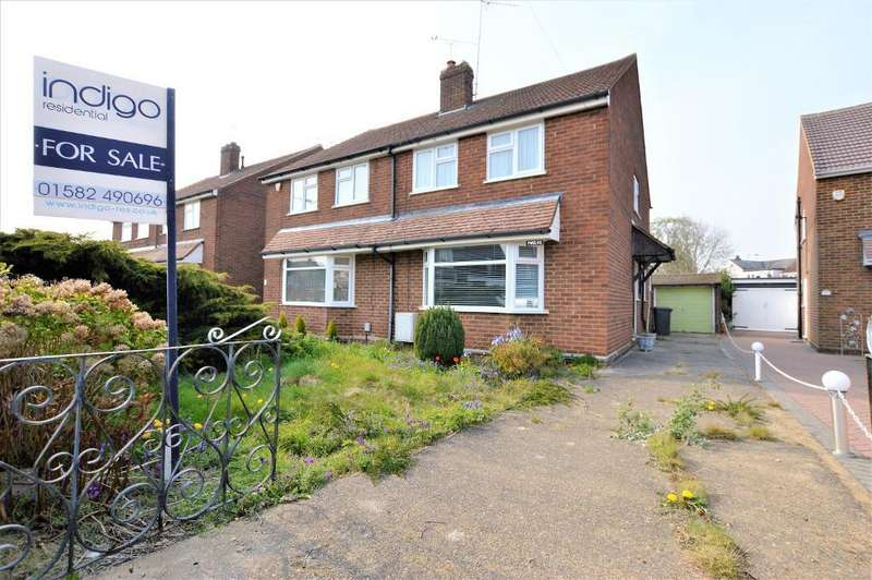 3 Bedrooms Semi Detached House for sale in Brooklands Close, Leagrave, Luton, Bedfordshire, LU4 9EH