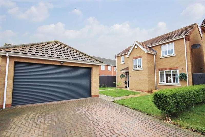 4 Bedrooms Detached House for sale in Jubilee Close, Cherry Willingham, Lincoln, Lincolnshire