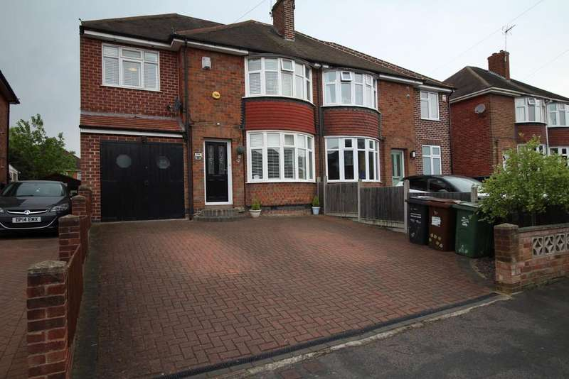 4 Bedrooms Semi Detached House for sale in King George Avenue, Loughborough