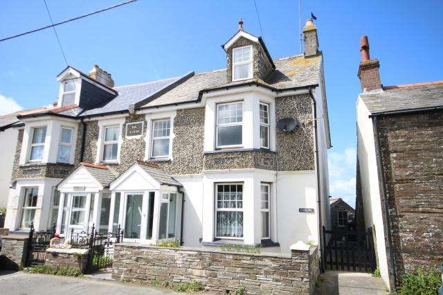 4 Bedrooms Semi Detached House for sale in Bossiney, Tintagel