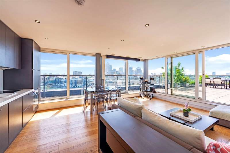 3 Bedrooms Penthouse Flat for sale in Limehouse Basin, 11 Branch Road, Limehouse, London, E14