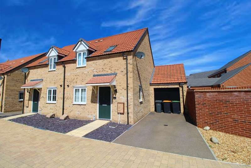3 Bedrooms Semi Detached House for sale in Brambling Gardens, Wixams, MK42