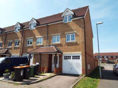 3 Bedrooms End Of Terrace House for sale in Watling Gardens, Dunstable, Bedfordshire, England
