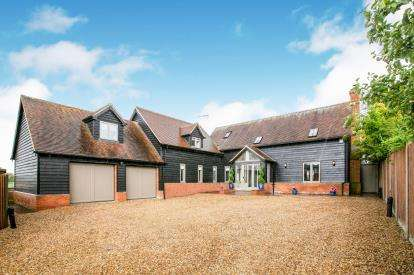 5 Bedrooms Detached House for sale in Caldecote Green, Upper Caldecote, Biggleswade, Bedfordshire