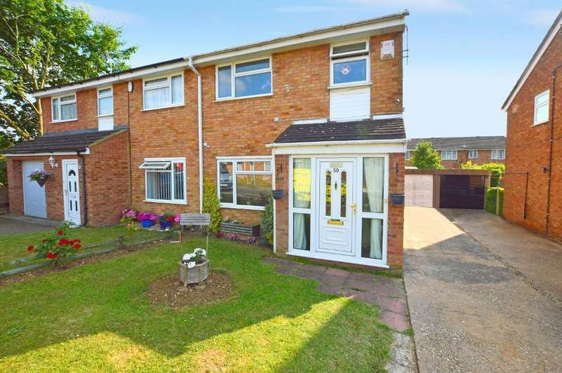 3 Bedrooms Semi Detached House for sale in Ventnor Gardens, Bramingham, Luton, Bedfordshire, LU3 3SN