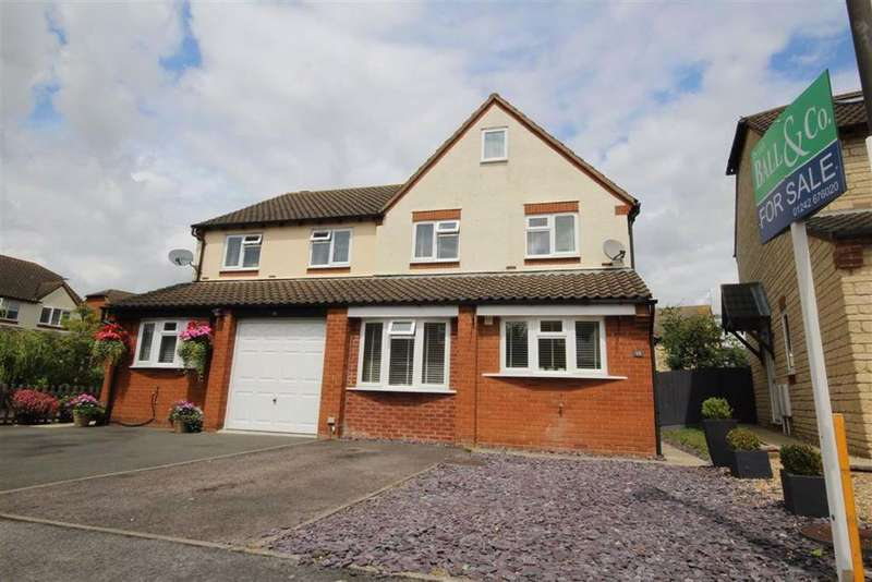 4 Bedrooms Semi Detached House for sale in Cutsdean Close, Bishops Cleeve, Cheltenham, GL52