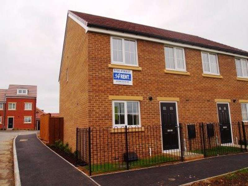 3 Bedrooms Semi Detached House for rent in Church Square, Brandon, Durham