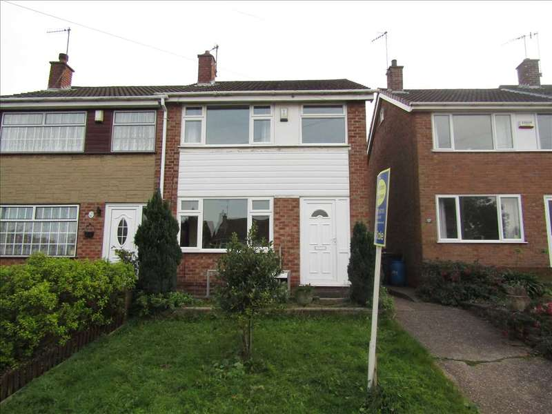 3 Bedrooms Semi Detached House for sale in Attewell Road, Awsworth, Nottingham